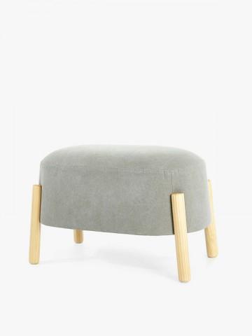 Swivel fabric armchair with...