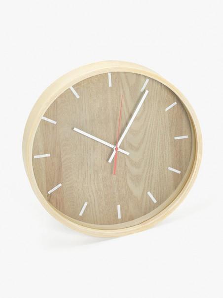Wall-mounted powder coated steel clock